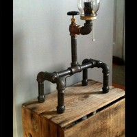 Unique Plumbing Fixture Lamp Industrial Style Table Light