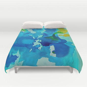 Topography Duvet Cover by DuckyB (Brandi)