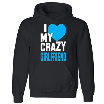 "Zexpa Apparelâ""¢I Heart My Crazy Girlfriend Unisex Hoodie Couple Matching Gift Hooded Sweatshirt"