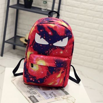 BONAMIE Night Light Cool Backpack Canvas Backpacks Luminous School Bags For Teenager Girls Boys Book Bag Starry Sky Backpack