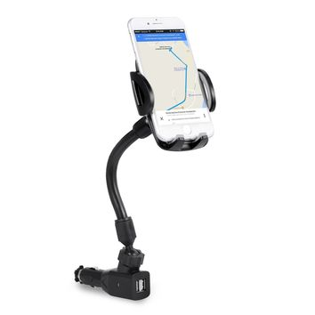 3-In-1 Cigarette Lighter Car Mount, Bestfy Car Mount Charger Phone Holder Cradle with Dual USB 2.1A Charger for iPhone X 8 8 Plus 7 7 Plus Samsung Galaxy Note S7 Edge and More Android Smartphones