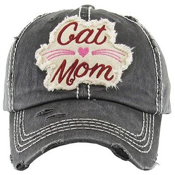 Cat Mom Baseball Cap