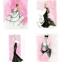 Robert Best Sketches - Set of 4 - Barbie Artwork | Barbie Collector