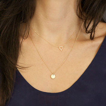 Shiny Jewelry Stylish Gift New Arrival Accessory Simple Design Hollow Out Metal Pendant Sweater Necklace [9659199690]