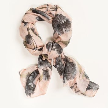 Jessica Blush Floral Scarf