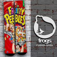 Fruity Pebbles Elite Socks, Custom socks, Personalized socks