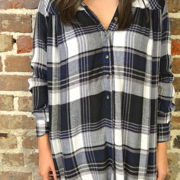 Cabin Relaxation Plaid Tunic