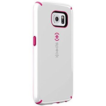 Speck Products CandyShell Case for Samsung Galaxy S6 - Retail Packaging - White/Raspberry Pink