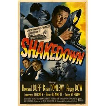 Shakedown Movie poster Metal Sign Wall Art 8in x 12in