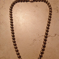 Vintage or Antique Brass Bead Necklace Jewelry