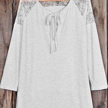 Cupshe Cherish Ourselves  Lace Top