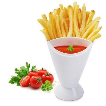 Potato Tool Tableware French Fry Chips Cone Salad Dipping Cup Sauce Ketchup Jam Dip Cup Bowl