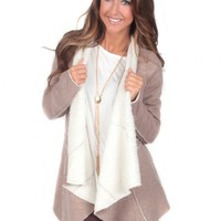 Cold Night Taupe Cardigan | Monday Dress Boutique