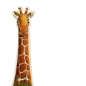 Giraffe Figure / Wood African Safari Animal Tchotchke  / Decorative Home Accent / Desk, Shelf, Table Figurine / Great for a Kid's Room / Toy
