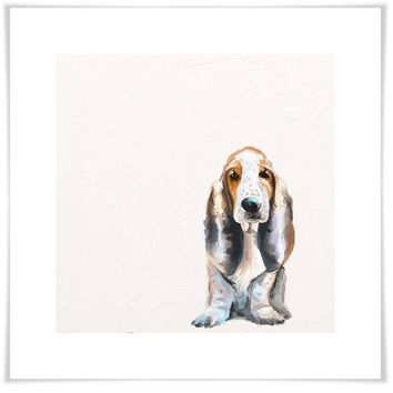 Best Friend - Basset Hound Wall Art