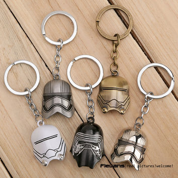 Star Wars Kylo Ren Mask Metal Keychains Pendant Key Chain Key Ring 5 Styles ANPD2291