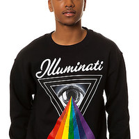 The Illuminati Crewneck Sweatshirt in Black