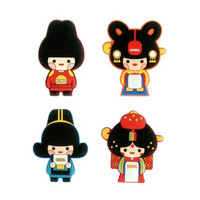 Korean traditional family PVC magnet