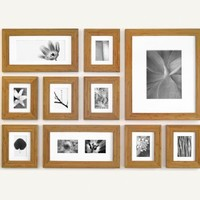 "HONEY 2"" Perfect Picturewall - Item P1028 The Original Gallery in a Box - PATENTED FREE S&H, Wood Frames, Mats, PreView Templates"