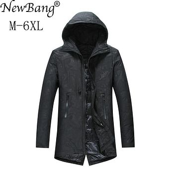 NewBang 5XL 6XL Plus Long Winter Jacket Men's Down Jacket Feather Parka For Man Warm Thick Long Down Coat Male Windbreaker Coats