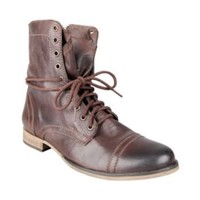 TROOPAH BROWN LEATHER men's boot casual oxford - Steve Madden