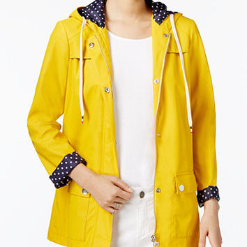 Maison Jules Hooded Raincoat, Only at Macy's | macys.com