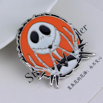 The Nightmare Before Christmas Brooches Pins Thriller Christmas Dress Accessories Scarf Lapel Pin Men Bijouterie Badge Pin