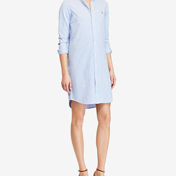 Polo Ralph Lauren Knit Oxford Cotton Shirtdress | macys.com