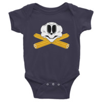 Mouse Skull and Churro Crossbones infant short sleeve one-piece