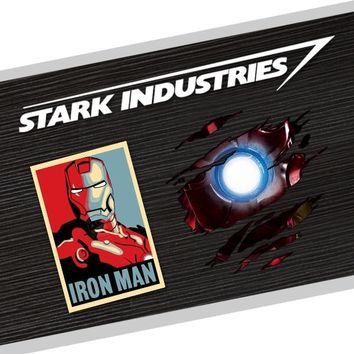 Noizzy Marvel Iron Man The Avengers Ho Car Sticker Auto Decal Vinyl Reflective White Automobile Body Window Tuning Car Styling