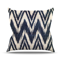 "Heidi Jennings ""Tribal Chevron Black"" Throw Pillow"