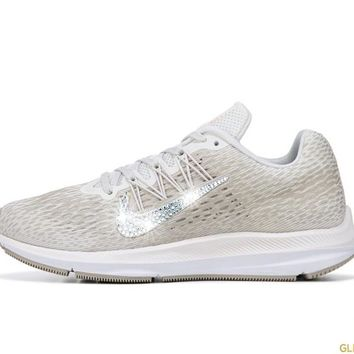 Nike Zoom Winflo 5 + Crystals - White/Metallic Gold