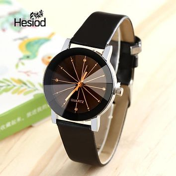 HESIOD Famous Brand Black Classic Color A pair Couple Watch Women Men Fashion Clock Relogio Nasculino Feminino Watches