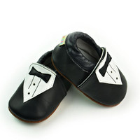 Leather Baby Infant Black Shoes [4919350276]