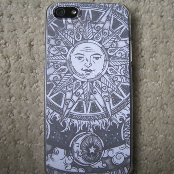 Sun and Moon iPhone 5 Case Clear