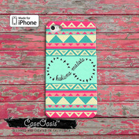 Hakuna Matata Infinity Symbol Tribal Mint And Coral Birds iPhone 4/4s Case and iPhone 5/5s/5c Case and Wallet Case and iPhone 6 and 6 Plus +