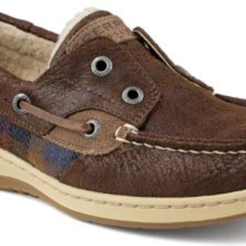 Sperry Top-Sider Plaid Ruggedfish Slip-On Boat Shoe Black, Size 6M  Women's Shoes