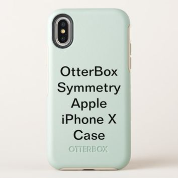 Customized OtterBox Symmetry Apple iPhone X Case
