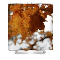 Autumn Leaves- by Linda Woods Shower Curtain