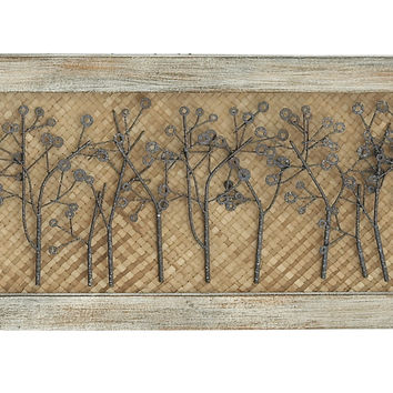 "Scenery Wood Metal Wall Decor 36""W, 15""H"