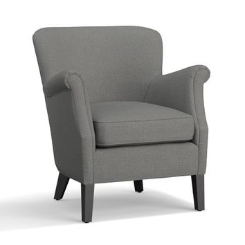 SoMa Petite Minna Roll Arm Upholstered Armchair
