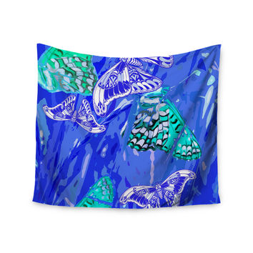"Vikki Salmela ""Butterflies Party Blues"" Wall Tapestry"