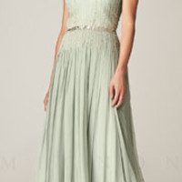 (PRE-ORDER) Mignon Spring 2014 - Seamist 1930s Style Grecian Beaded Elegant Prom Dress