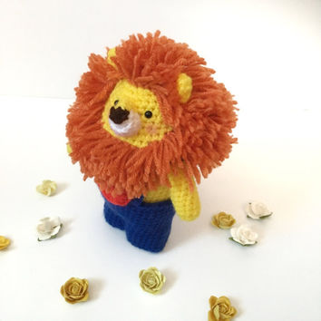 Lion Plush Amigurumi Lion Toy Crochet Lion Doll Softy Kids Toy Kawaii Chubby Lion Photo Prop Nursery Decor Birthday Baby Shower Gift Ideas