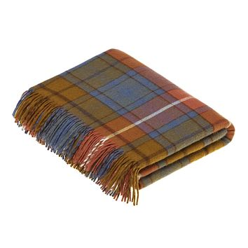 Tartan - Merino Lambswool -  Antique Buchanan - Throw Blanket