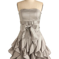 Who Wants to Be a Frillionaire Dress in Platinum | Mod Retro Vintage Printed Dresses | ModCloth.com
