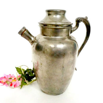 Martini Shaker, Martini Mixer, Pewter, Old Colonial Pewter Cocktail Shaker, Mixer, Retro Barware, Mid Century Barware, Collectible Barware