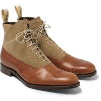 Grenson - Foot The Coacher Leather and Suede Boots | MR PORTER