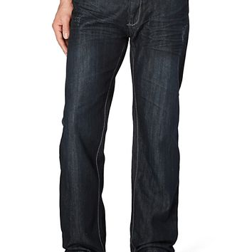 Belted Silver Pocket Relaxed Straight Jean