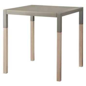 TOO by Blu Dot Quad Side Table - Light Gray Metal/White Wash
